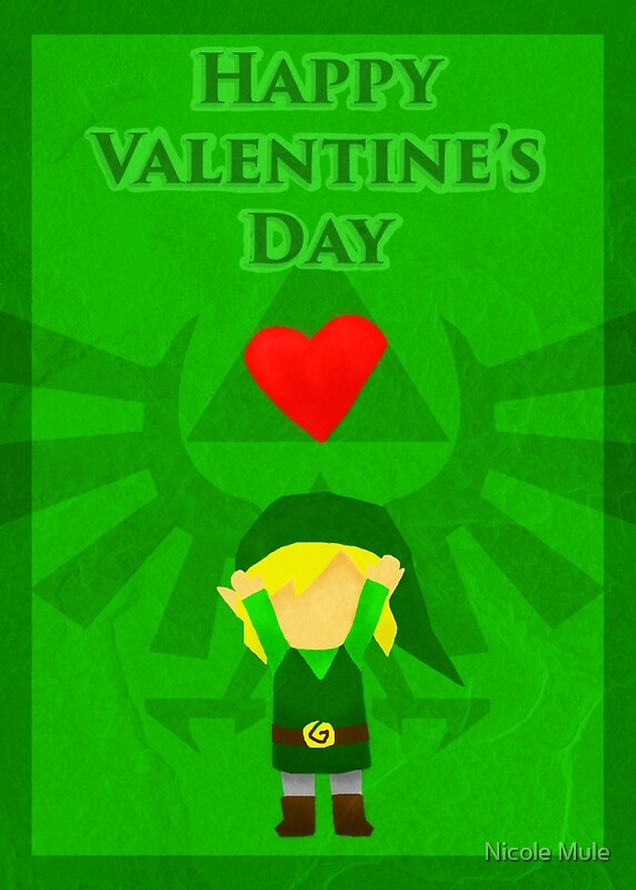 Legend Of Zelda Valentines Day Card By Nicole Muleu0027