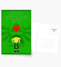 Legend of Zelda Valentines Day Card Postcards