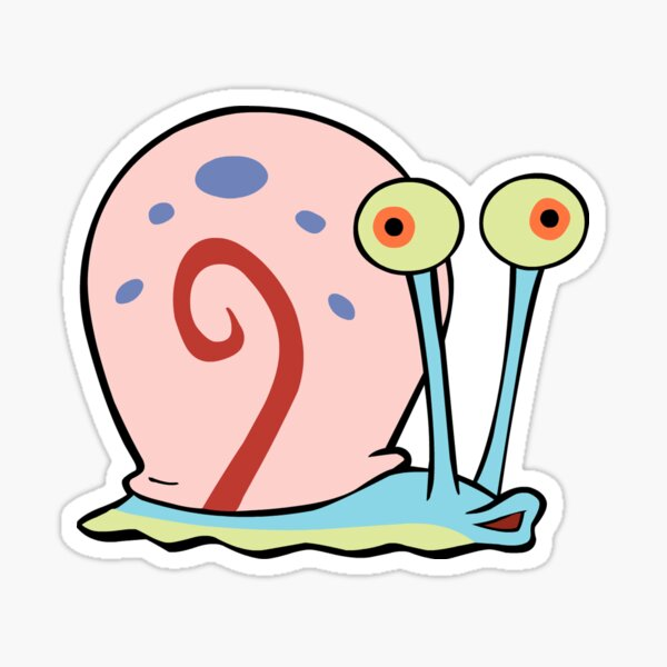Gary el caracol Pegatina