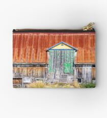 Old colorful barn Studio Pouch