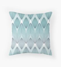 Lines to lines, 01, teal Throw Pillow