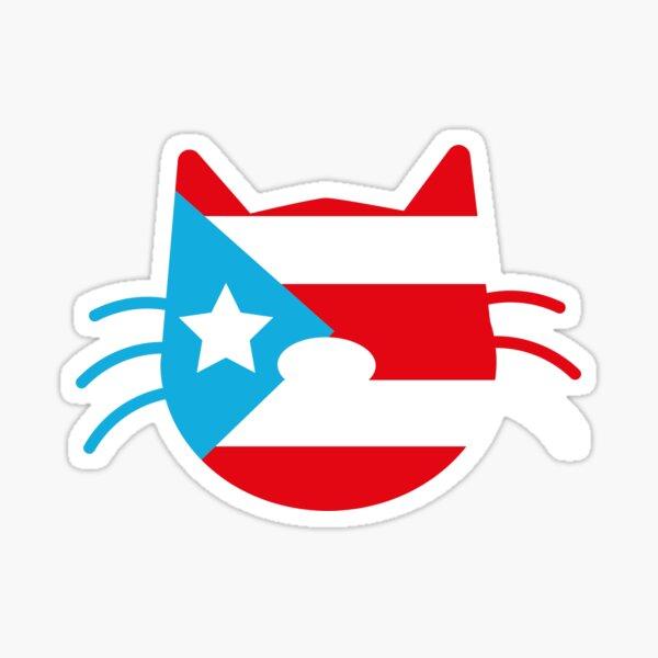 Puerto Rico Cat Sticker