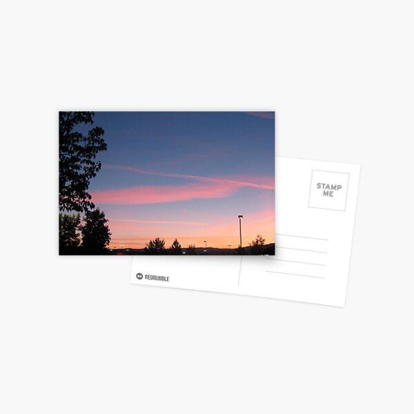 Pink Striped Skies Postcard