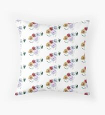 Flowers and Butterfly Floor Pillow