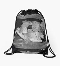 RETRO CATFIGHT Drawstring Bag
