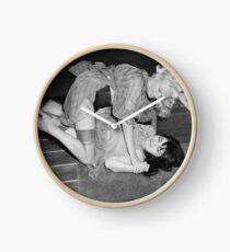 RETRO CATFIGHT Clock