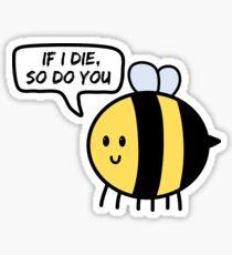 Threatening Save the Bees Sticker