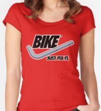 BIKE - Just Fix It Fitted Scoop T-Shirt