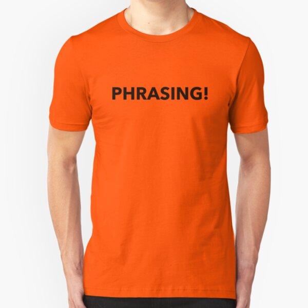 Phrasing Design Slim Fit T-Shirt