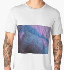 Warm blue pink wool mosaic Men's Premium T-Shirt