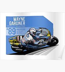 Wayne Gardner - 1989 Phillip Island Poster