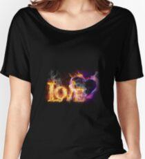Fire love Women's Relaxed Fit T-Shirt