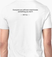 The information you get from social media is not a substitute for academic discipline at all. T-Shirt