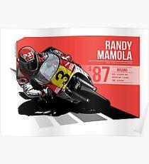 Randy Mamola - 1987 Misano Poster