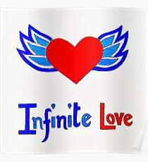 Infinite Love winged heart Poster