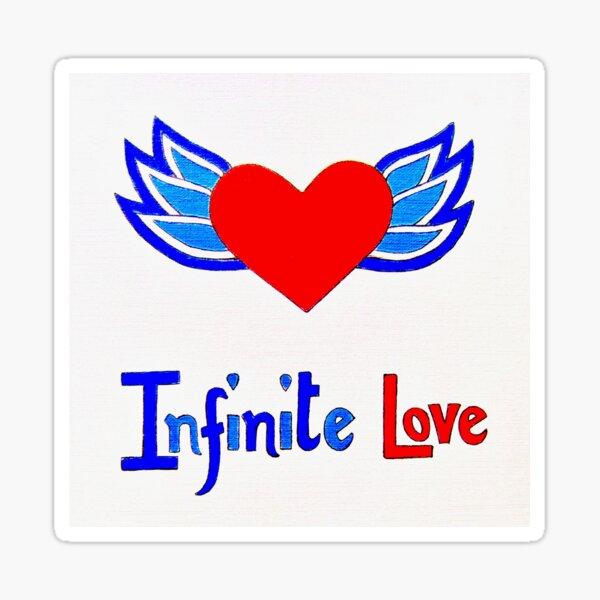 Infinite Love winged heart Sticker