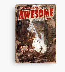 Astoundingly Awesome Tales: Rise of The Radiated Fallout 4 Poster  Canvas Print