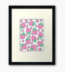 Pink Strawberries Framed Print