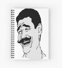 Bitch Please Moustache - internet meme Spiral Notebook