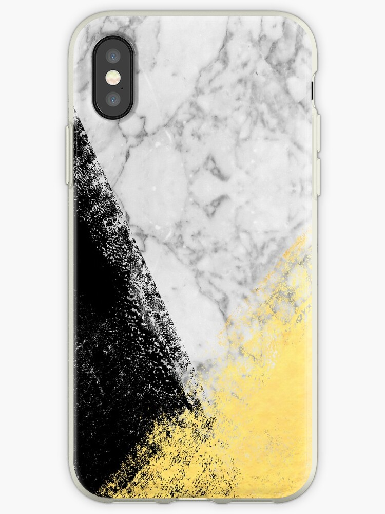 brand new 461ea 50d8b 'Marble with Black & Gold - gold foil, gold, marble, black and white,  trendy, luxe, gold phone' iPhone Case by charlottewinter
