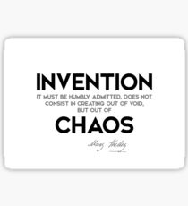 invention, chaos - mary shelley Sticker