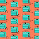 Television (aqua tangerine) by wallpaperfiles