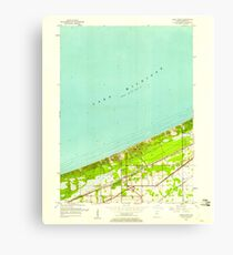USGS TOPO Map Indiana IN Dune Acres 156425 1953 24000 Canvas Print