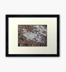 Ice Framed Print