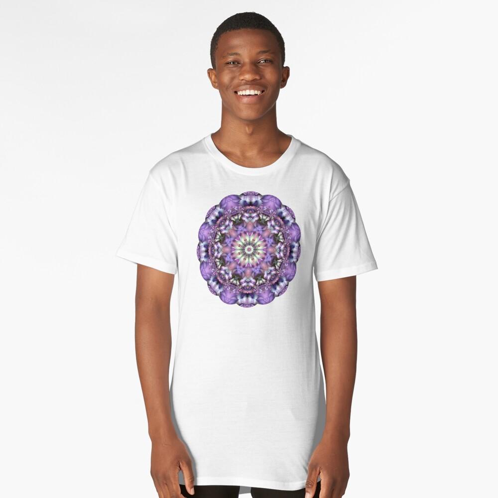 Lilac Mandala Long T-Shirt Front