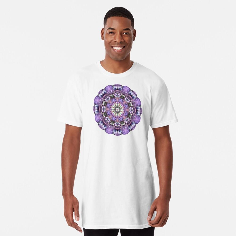 Lilac Mandala Long T-Shirt