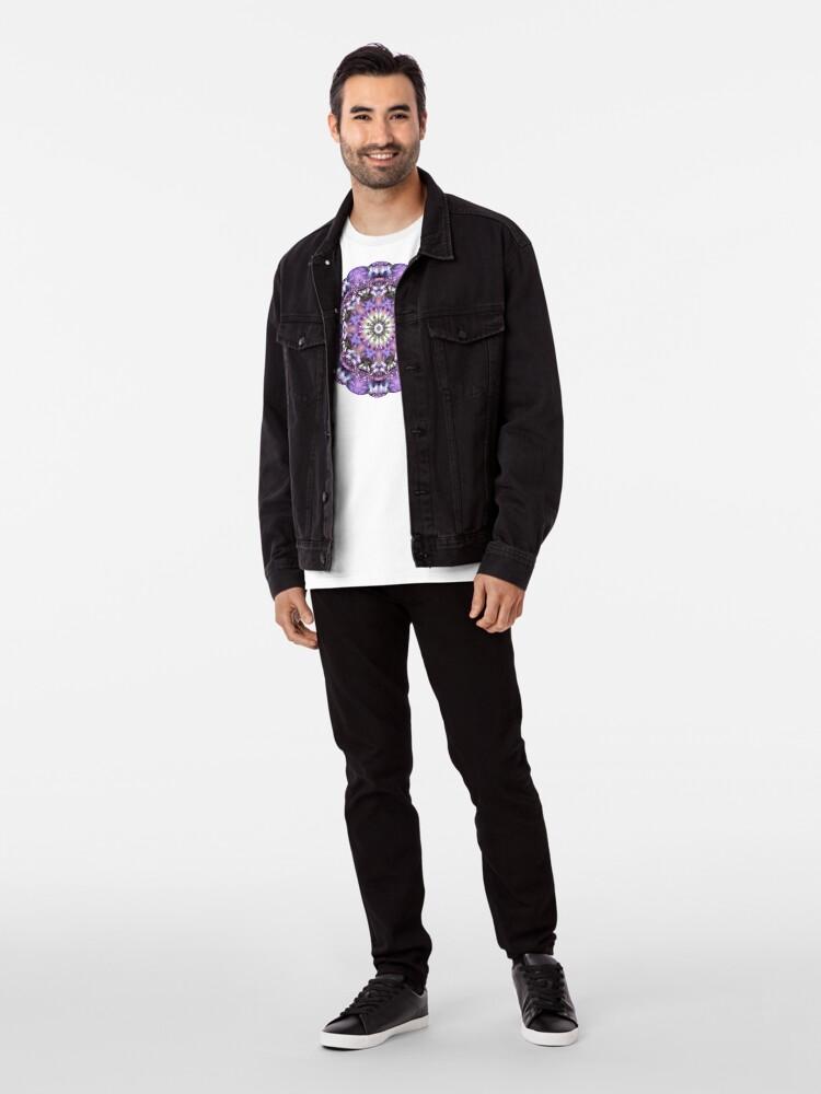 Alternate view of Lilac Mandala Premium T-Shirt