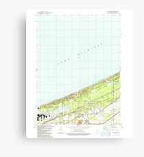 USGS TOPO Map Indiana IN Dune Acres 156803 1991 24000 Canvas Print