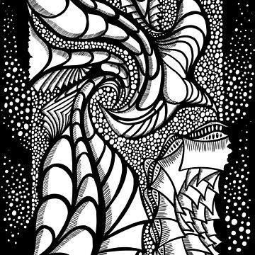 Obsidian Dragon by cazabon
