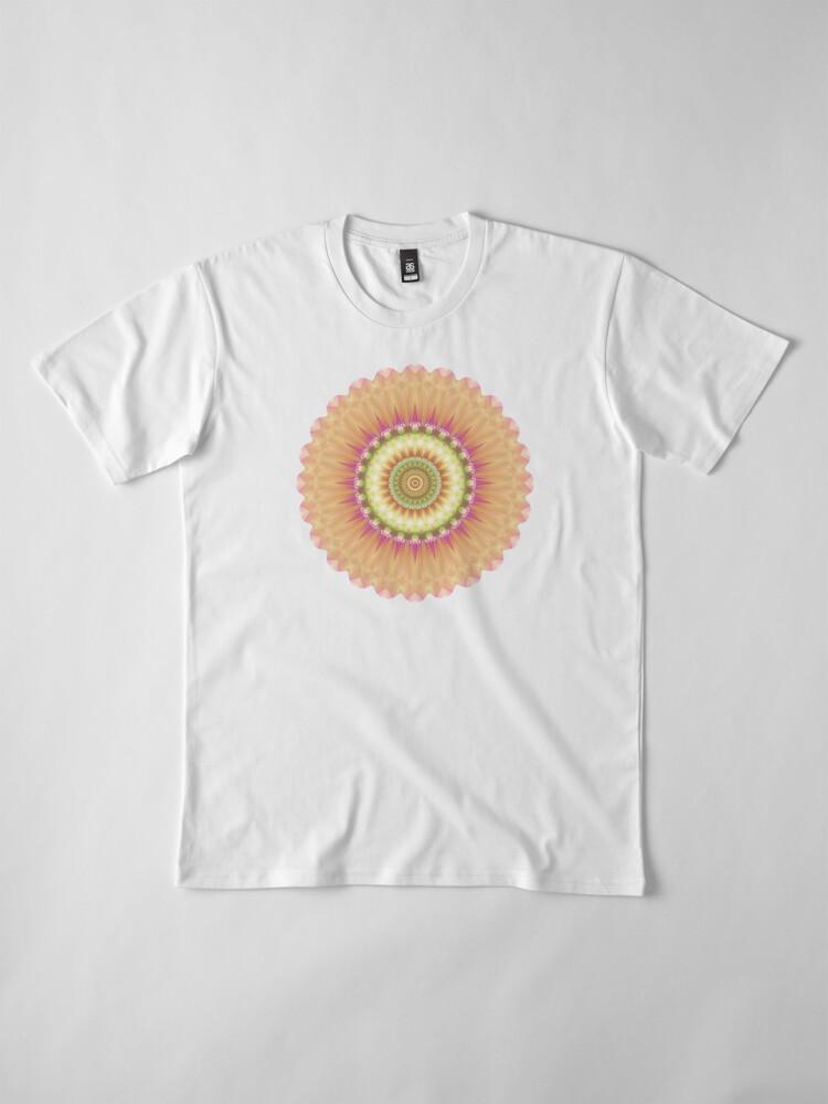 Alternate view of Beauty Mandala 01 in Pink, Yellow, Green and White Premium T-Shirt