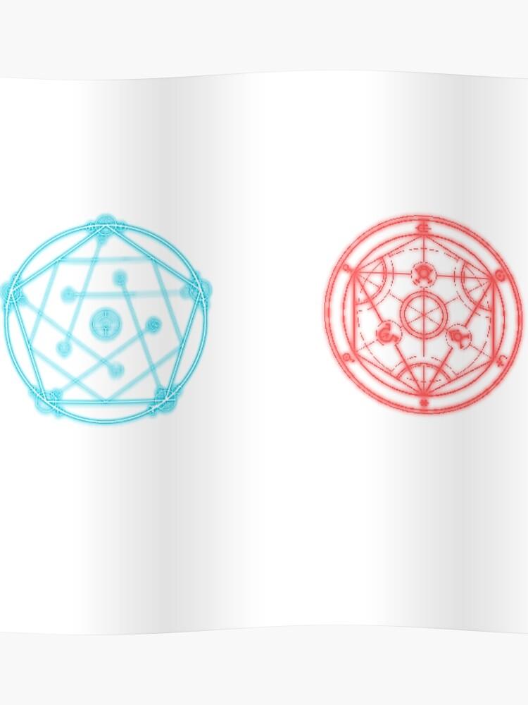 Transmutation Circle And Reverse Transmutation Circle Poster By