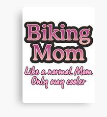 Biking Mom Canvas Print
