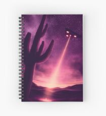 Welcome to Night Vale UFO Poster Spiral Notebook