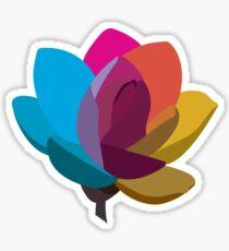 Flor multicolor Pegatina