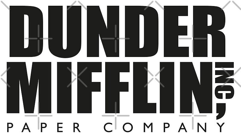 dunder mifflin paper company logo   the office art