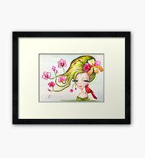 """Watercolor Painting """"Orchids"""" Framed Print"""