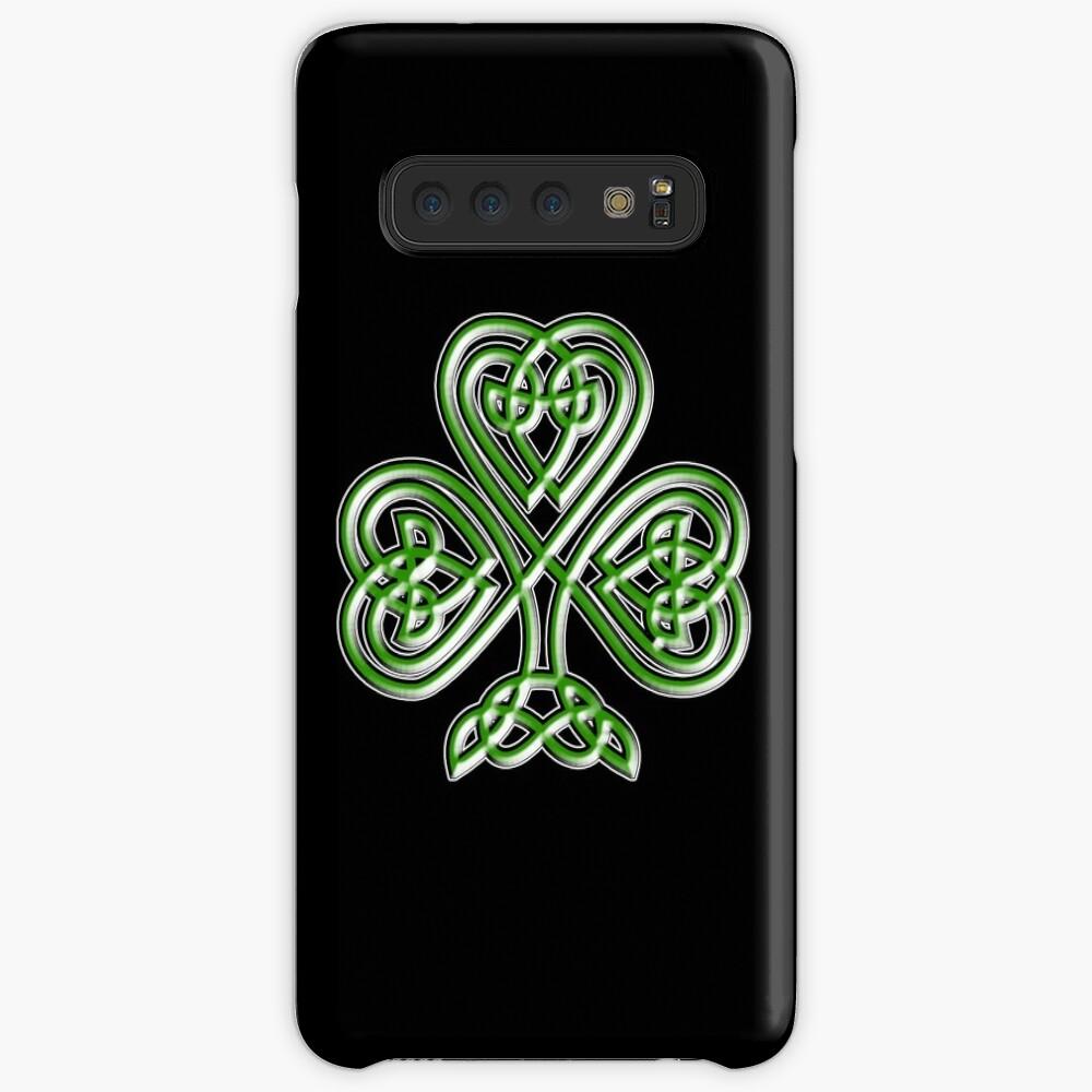 Shamrock. Knot, St Patricks Day, Celtic, Celt, Irish, Ireland, Eire, Luck, Lucky. Case & Skin for Samsung Galaxy