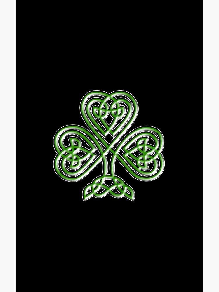 Shamrock. Knot, St Patricks Day, Celtic, Celt, Irish, Ireland, Eire, Luck, Lucky. by TOMSREDBUBBLE