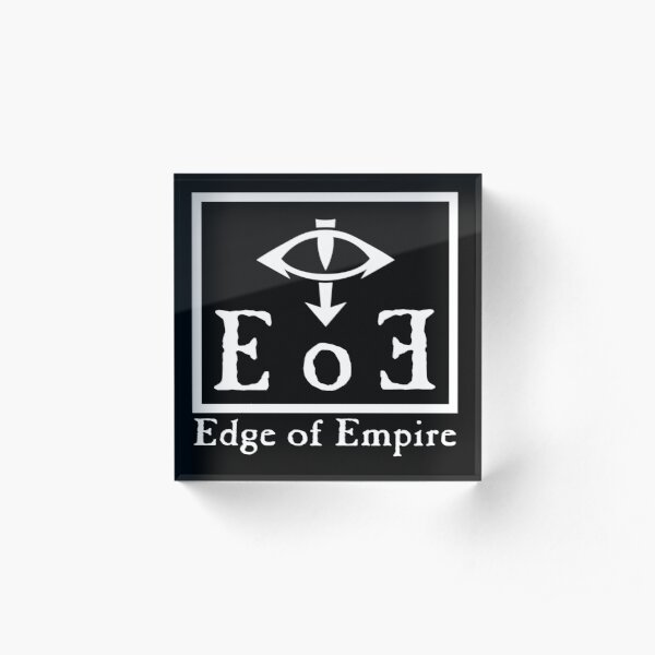 Edge of Empire - White Acrylic Block