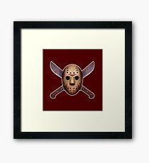 Jason Mask and Machetes  Framed Print