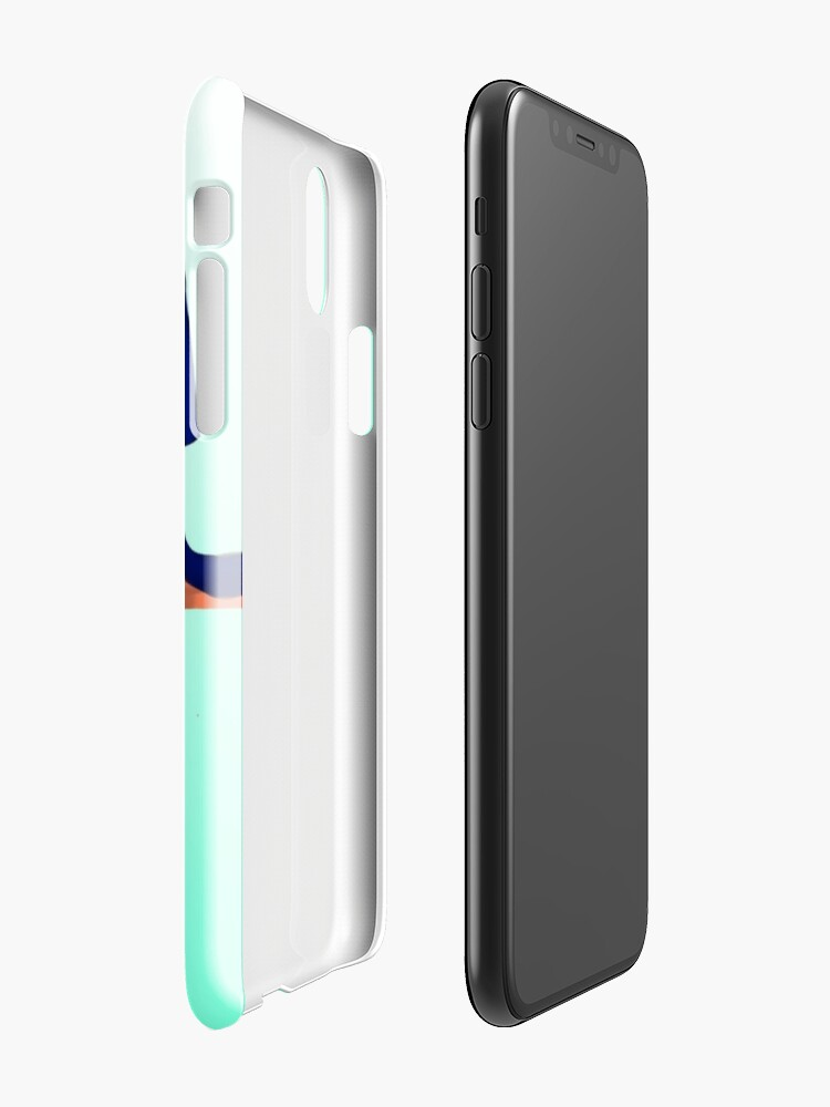 Alternate view of Neon babe - aqua iPhone Case & Cover