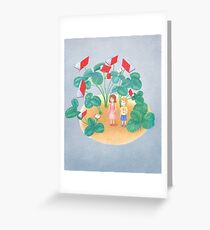 lost in a garden of books Greeting Card
