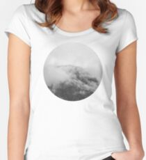 Moody clouds 1 Women's Fitted Scoop T-Shirt