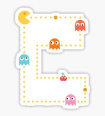 Pac-Man Chasing Blinky, Inky, Pinky and Clyde Sticker