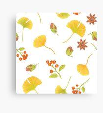 autumn treasures repeating pattern Canvas Print
