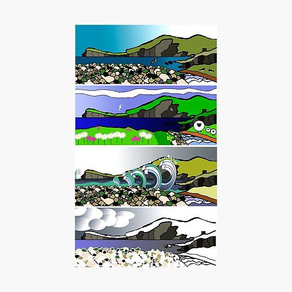 The Four Seasons of Fetlar, Shetland Photographic Print